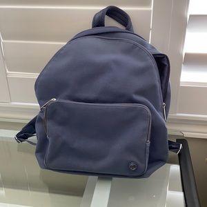 Lululemon blue-ish grey canvas backpack